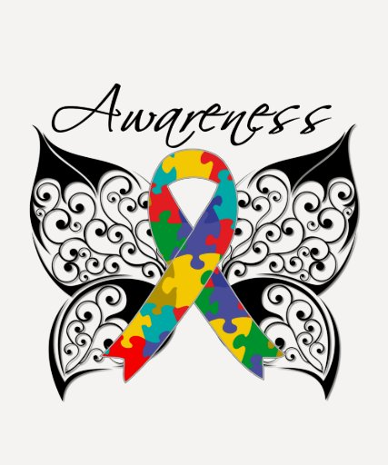 Conciencia de la mariposa del tatuaje - autismo camisetas