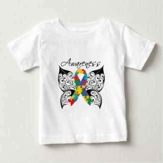 Conciencia de la mariposa del tatuaje - autismo playeras