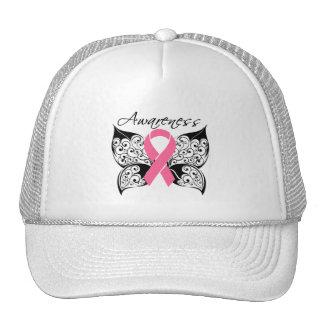 Conciencia de la mariposa del tatuaje - cáncer de  gorro