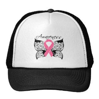Conciencia de la mariposa del tatuaje - cáncer de  gorra