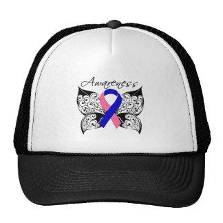 Conciencia de la mariposa del tatuaje - cáncer de  gorras