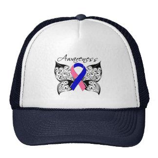 Conciencia de la mariposa del tatuaje - cáncer de  gorros