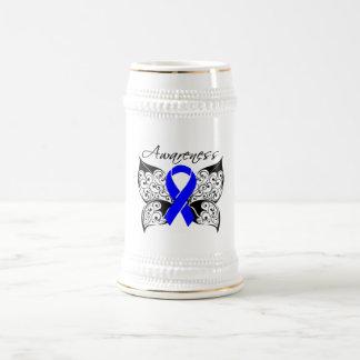 Conciencia de la mariposa del tatuaje - cáncer de  taza