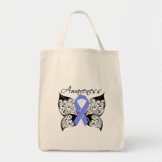 Conciencia de la mariposa del tatuaje - cáncer del bolsa tela para la compra