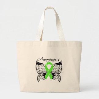 Conciencia de la mariposa del tatuaje - enfermedad bolsas de mano
