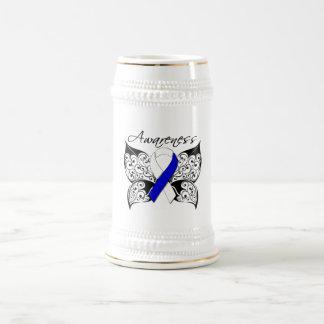 Conciencia de la mariposa del tatuaje - enfermedad taza de café
