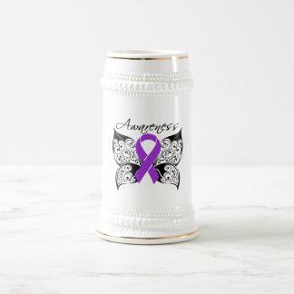 Conciencia de la mariposa del tatuaje - epilepsia taza