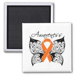 Conciencia de la mariposa del tatuaje - esclerosis imán de nevera