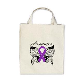 Conciencia de la mariposa del tatuaje - Fibromyalg Bolsas