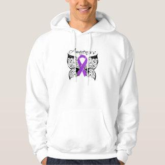 Conciencia de la mariposa del tatuaje - jersey con capucha