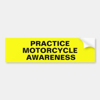 Conciencia de la motocicleta de la práctica pegatina para auto