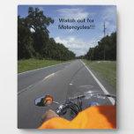 Conciencia de la motocicleta placas con foto