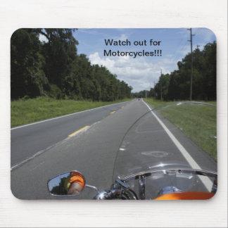 Conciencia de la motocicleta tapetes de ratón
