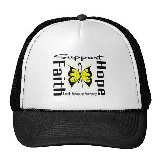 Conciencia de la prevención del suicidio de la esp gorra