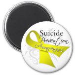 Conciencia de la prevención del suicidio imán de frigorifico