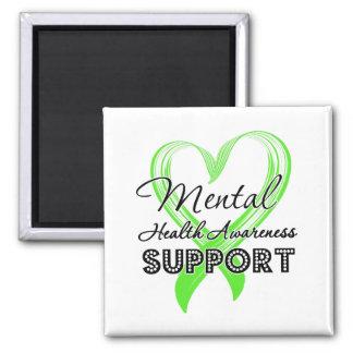 Conciencia de la salud mental - ayuda iman de nevera