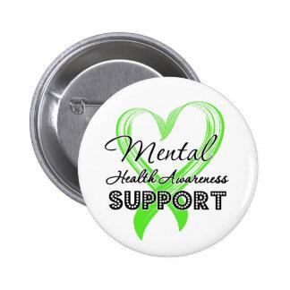 Conciencia de la salud mental - ayuda pin redondo 5 cm