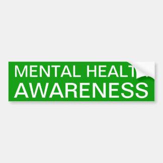 Conciencia de la salud mental pegatina de parachoque