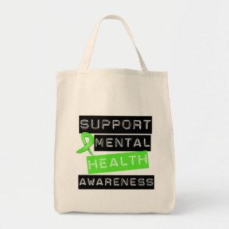 Conciencia de la salud mental de la ayuda bolsas de mano