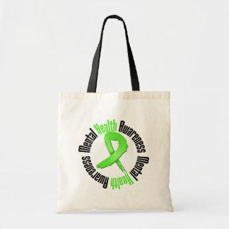 Conciencia de la salud mental de la ayuda bolsa lienzo