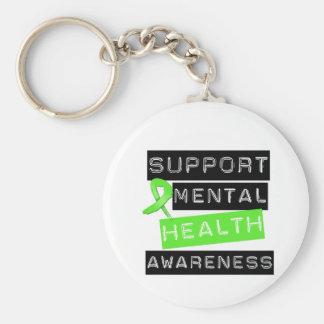 Conciencia de la salud mental de la ayuda llavero redondo tipo pin
