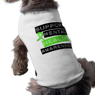 Conciencia de la salud mental de la ayuda playera sin mangas para perro