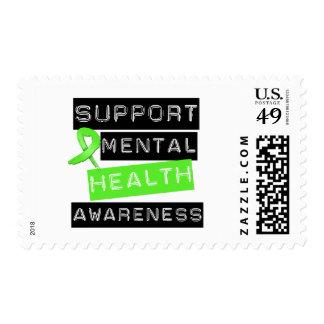 Conciencia de la salud mental de la ayuda sellos