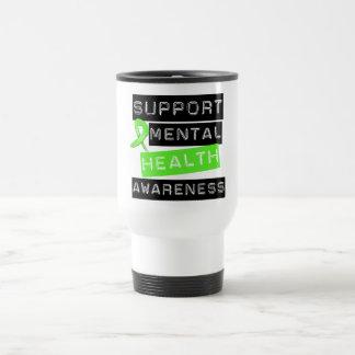 Conciencia de la salud mental de la ayuda taza térmica