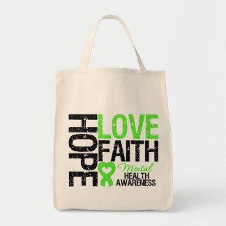 Conciencia de la salud mental de la fe del amor de bolsas
