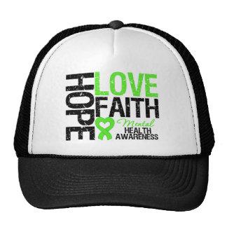 Conciencia de la salud mental de la fe del amor de gorros