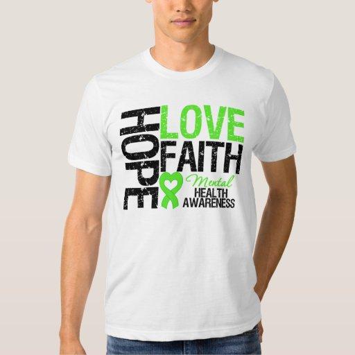 Conciencia de la salud mental de la fe del amor de polera
