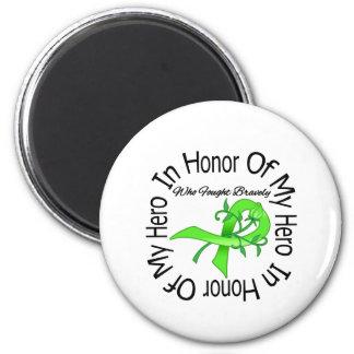 Conciencia de la salud mental en honor de mi héroe imanes de nevera