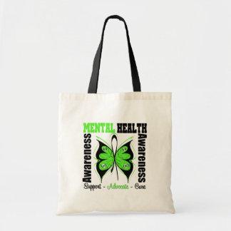 Conciencia de la salud mental - mariposa bolsa