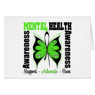 Conciencia de la salud mental - mariposa tarjeta de felicitación