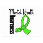 Conciencia de la salud mental postales
