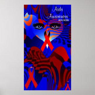 Conciencia de las ayudas HIV AIDS_Poster