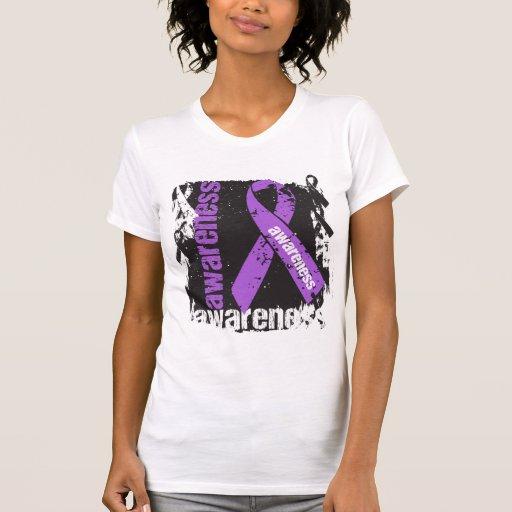 Conciencia de Leiomyosarcoma del Grunge Camisetas