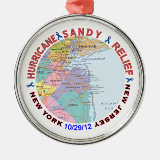 Conciencia del alivio de Sandy del huracán Adorno De Navidad