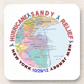 Conciencia del alivio de Sandy del huracán Posavasos De Bebidas