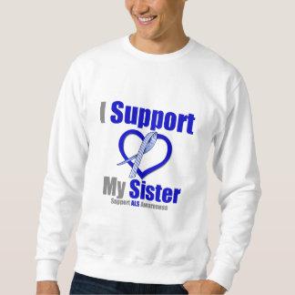 Conciencia del ALS apoyo a mi hermana Sudadera Con Capucha