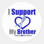 Conciencia del ALS apoyo mi Brother Etiquetas Redondas