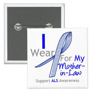 Conciencia del ALS llevo a la suegra de la cinta Pin Cuadrado