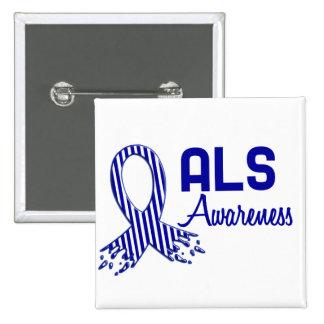 Conciencia del ALS Pin Cuadrado