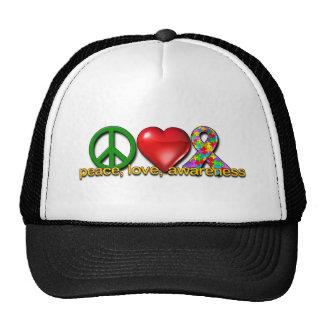 Conciencia del amor de la paz gorro de camionero