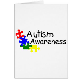 Conciencia del autismo (4 pedazos) tarjeta de felicitación