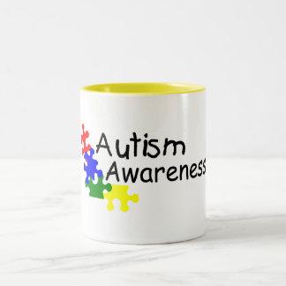Conciencia del autismo (4 PP) Taza Dos Tonos