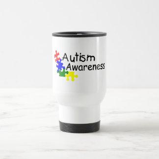 Conciencia del autismo (4 PP) Taza De Viaje De Acero Inoxidable