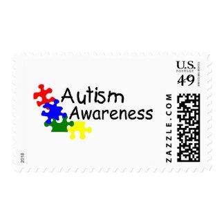 Conciencia del autismo (4 PP) Timbre Postal