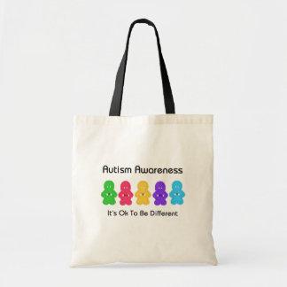 Conciencia del autismo bolsas lienzo