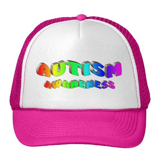 Conciencia del autismo (brillante) gorros bordados
